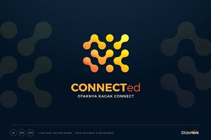 Connected Dots Technology Logo Template