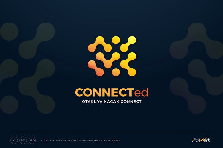 Thumbnail for Connected Dots Technology Logo Template