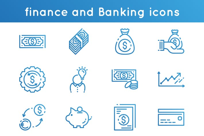 Thumbnail for Finance and Banking Icons