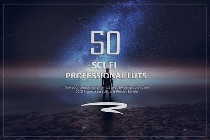 50 Sci-Fi LUTs and Presets Pack
