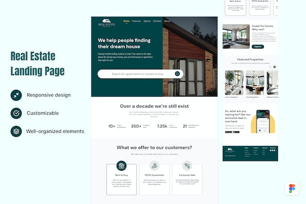 Real Estate Landing Page Figma Template