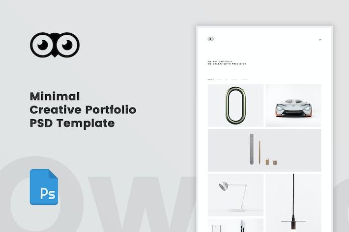 Thumbnail for Owlfolio - Creative Portfolio PSD Template