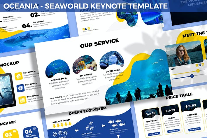 Thumbnail for Oceania - Seaworld Keynote Template