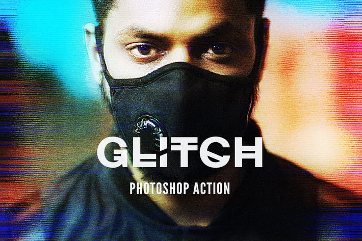 Thumbnail for Glitch 2 Photoshop Action
