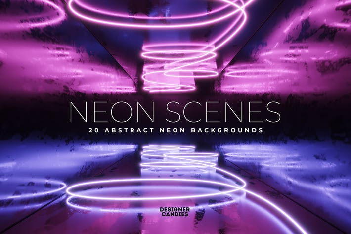 Neon-Szenen-Hintergrund-Paket