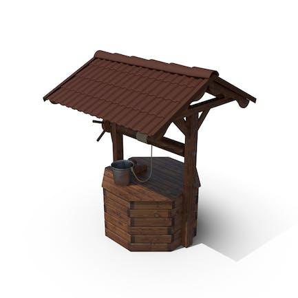 House de pozo de madera y cubo