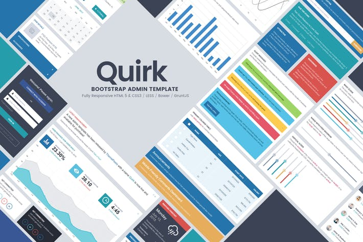 Thumbnail for Quirk Bootstrap Admin Template