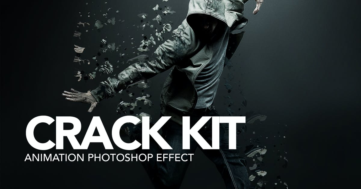 Download Gif Animated Crack Kit Photoshop Action by sreda