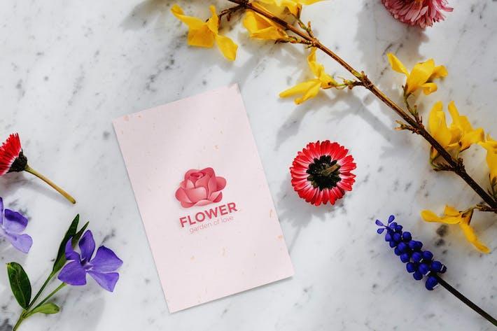 Thumbnail for Flower Logo Mockup