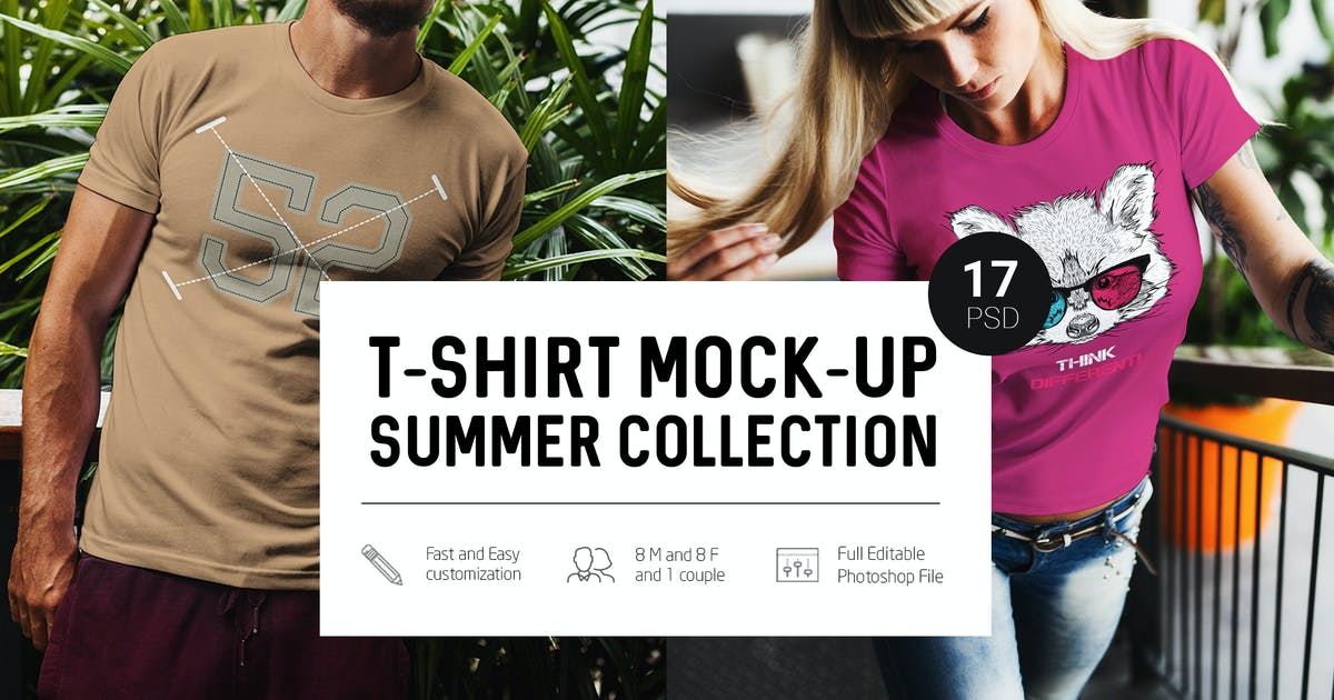 Download T-Shirt Mock-Up Summer Edition by Temaphoto