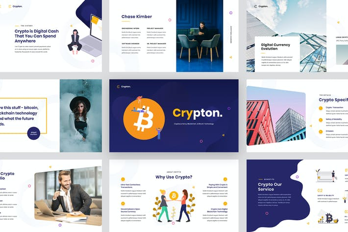 Thumbnail for Crypton - Cryptocurrency Google Slides Template