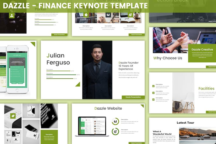 Thumbnail for Dazzle - Finance Keynote Template