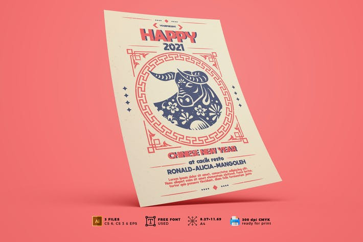 Chinese New Year Flyer Template Vol. 01