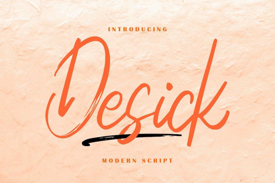 Script moderne Desick