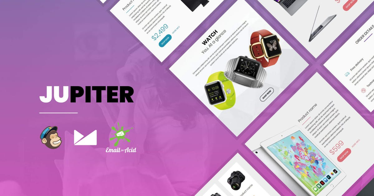 Download Jupiter - E-commerce Responsive Email Template by Psd2Newsletters