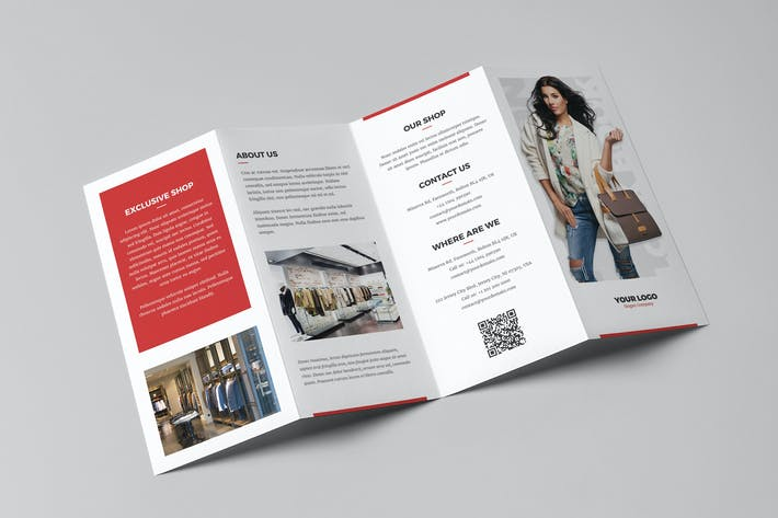 Thumbnail for Brochure – Fashion Look Book 4-Fold