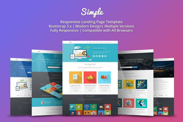 Thumbnail for Simple - Responsive Landing Page Template