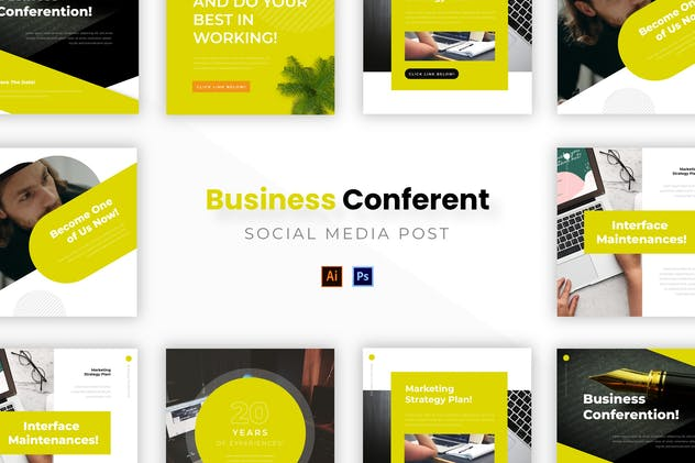 Business Conferention Socmed Post - product preview 0