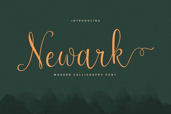 Caligrafía del guión de Newark