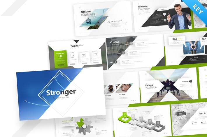Thumbnail for Stronger Keynote Presentation Template