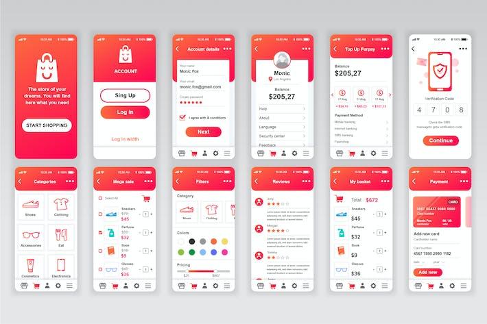 Thumbnail for Shopping Mobile App UX and UI Kit