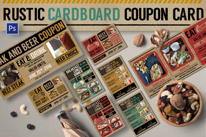 Thumbnail for Rustic Cardboard Coupon Card
