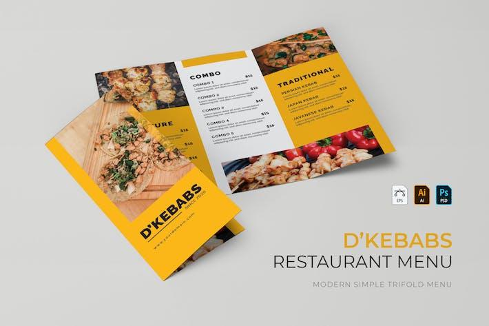 D'Kebabs | Restaurant Menu
