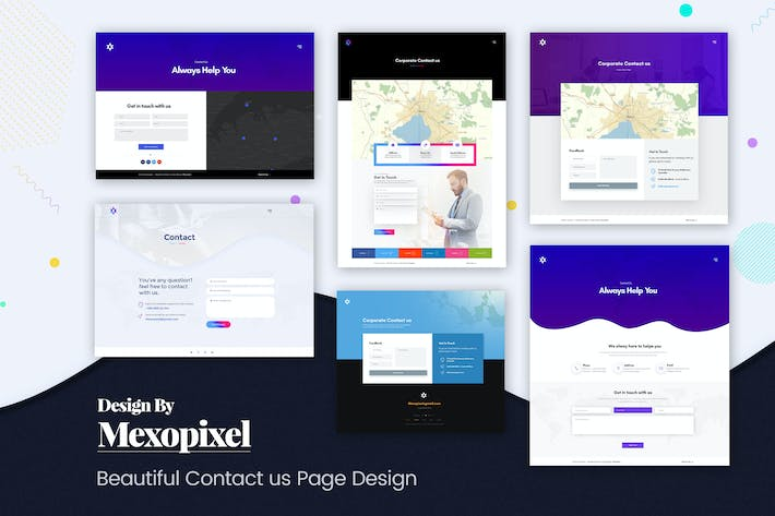 Thumbnail for Beautiful Contact us Page Design Template