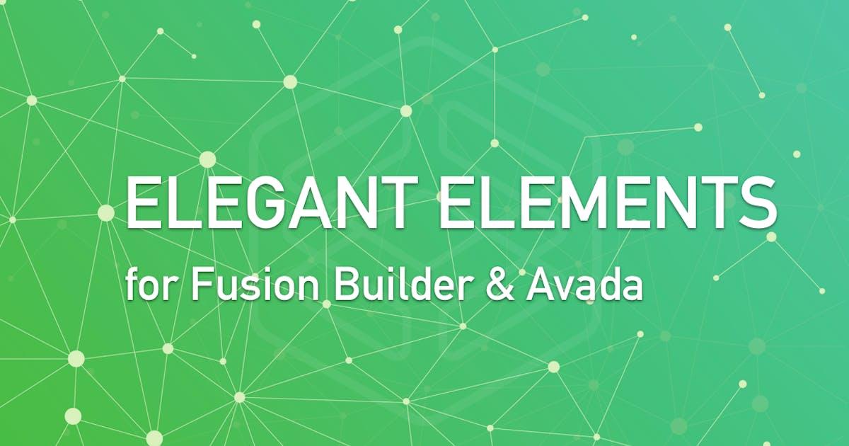 Download Elegant Elements for Fusion Builder by infiwebs