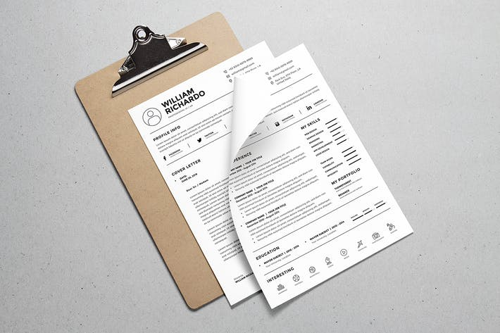 Thumbnail for Minimal Resume Template v.3