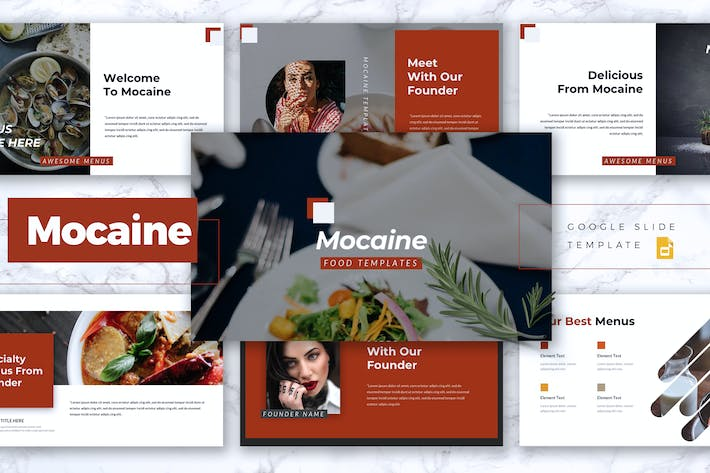 Thumbnail for MOCAINE - Restaurant & Food Google Slides Template