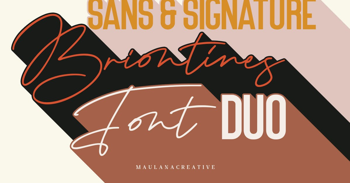 Download Briontines Signature Font by maulanacreative
