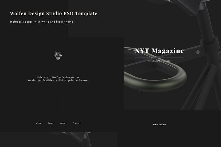 Thumbnail for Wolfen Design Studio PSD Template