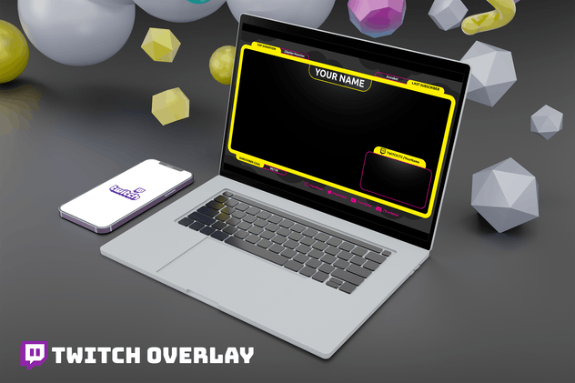 Yellow - Twitch Overlay Template
