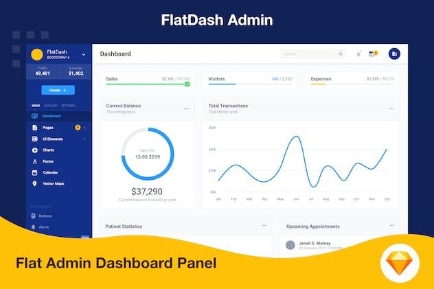 Admin Dashboard Flat