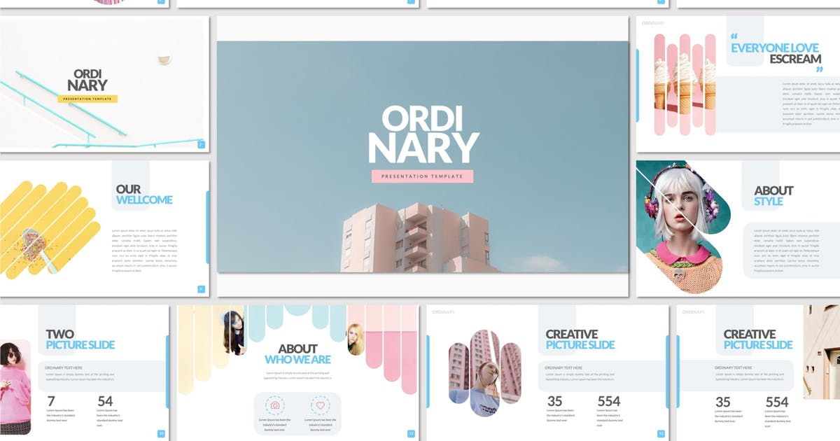 Download ORDINARY Keynote Template by templatehere