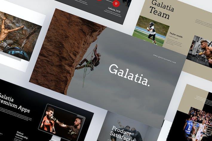 Галатия - Легкая атлетика Powerpoint Шаблон