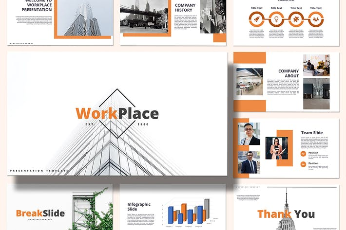 Thumbnail for Work Place - Keynote Template