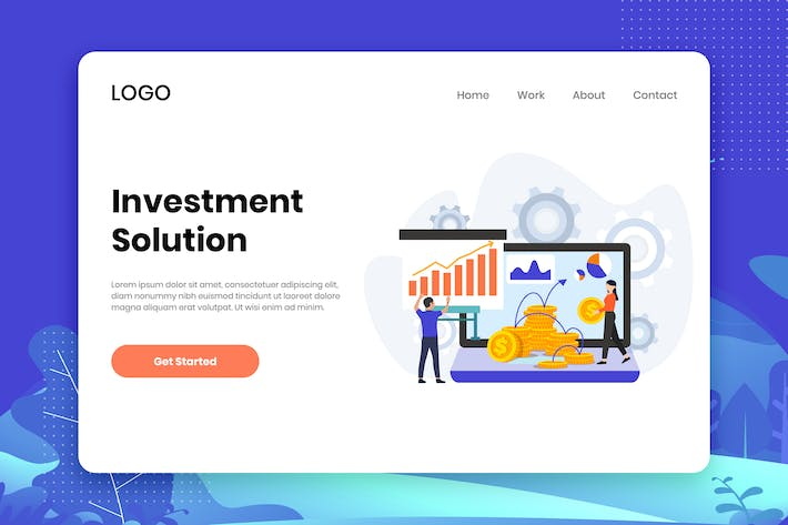 Thumbnail for Investment Solution landing page template