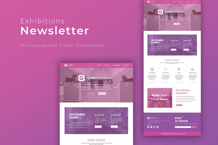 Thumbnail for Exhibition | Newsletter Template
