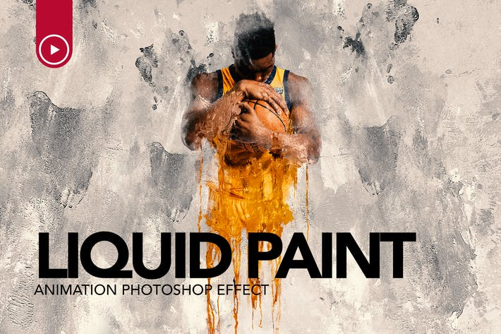 Thumbnail for Gif Animated Liquid Paint Photoshop Action