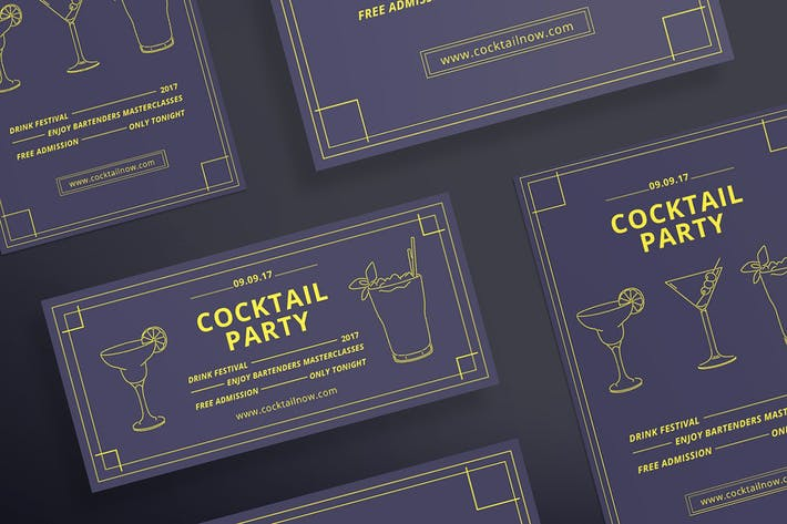 Thumbnail for Cocktail Party Flyer Template