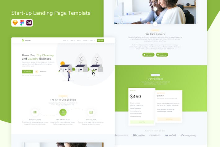 Thumbnail for Saas Landing Page Template