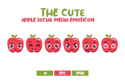 Emoticon lindo de las redes sociales de Apple