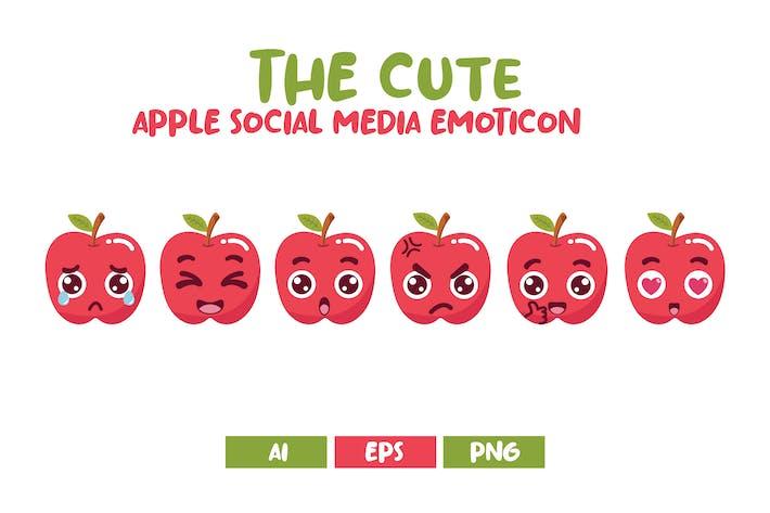 Süße Apple Social Media Emoticon
