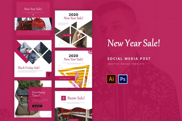 Thumbnail for New Year Social Media Instagram Feed Template