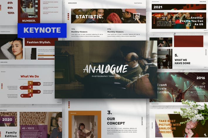 Презентация аналоговых креативных Keynote докладов