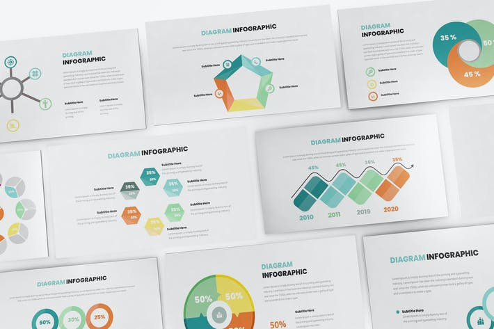 Thumbnail for Diagram Infographic Keynote Template