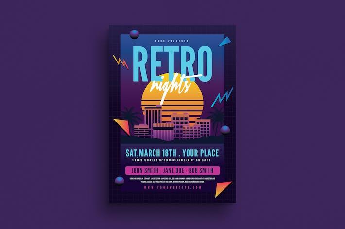 Thumbnail for Retro Night 80s Flyer