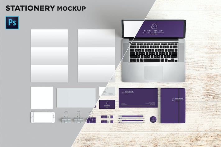 Cover Image For Brand Identity / Stationery Mockup 02